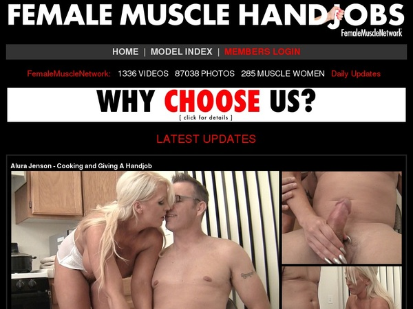 Female Muscle Handjobs With European Credit Card