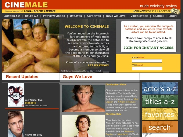 Get Cinemale For Free