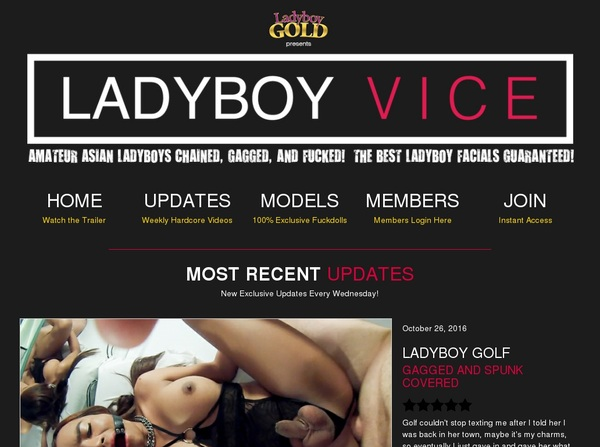 Ladyboy Vice Login Account