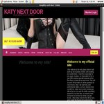 KATY NEXT DOOR With Credit Card