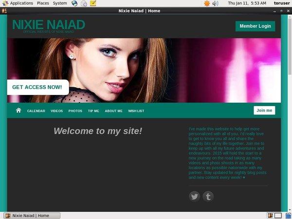Nixie Naiad Account 2015