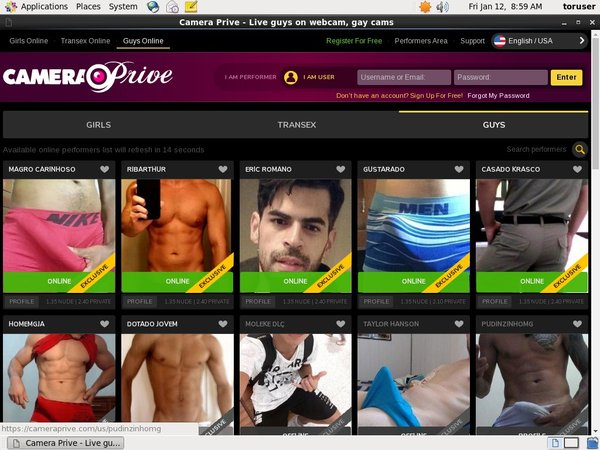 CameraPrive Gay Webcams Payment Form