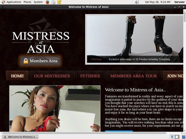 Mistressofasia.com Free Login