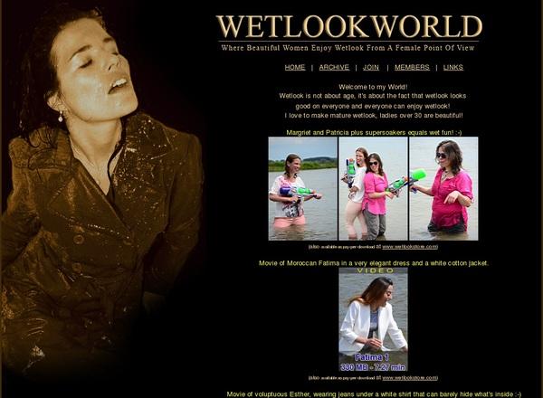 Wetlookworld.com Pay Using